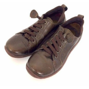 Born Handcrafted Womens Brown Leather Oxfords